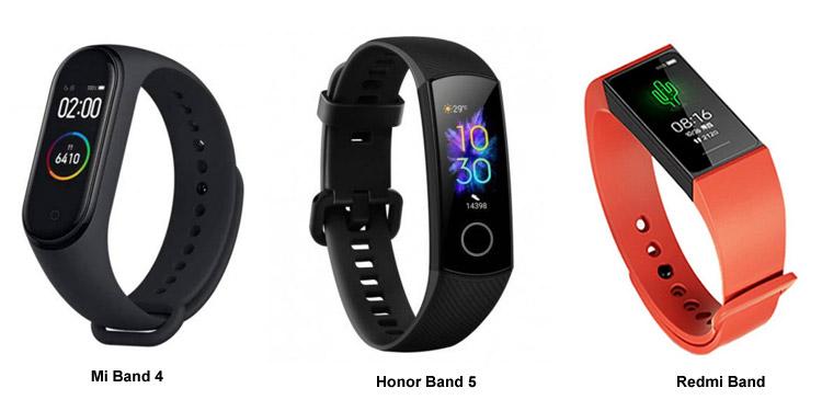 Bandingkan Spesifikasi Redmi Band vs Xiaomi Mi Band 4 vs Honor Band 5