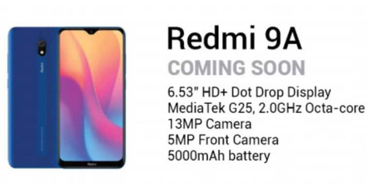 Spesifikasi Redmi 9A Bocor Lewat Brosur Promosi Online