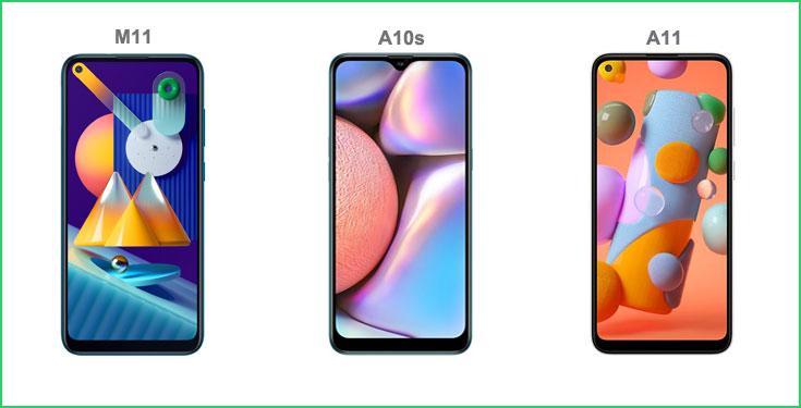 Bandingkan Spesifikasi Samsung Galaxy A10s vs Galaxy A11 vs Galaxy M11