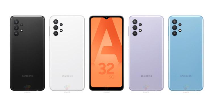 Render Resmi Samsung Galaxy A32 5G Bocor, Ungkap Desain Unik